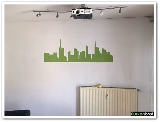 Frankfurt Skyline_Wandbild_gemalt