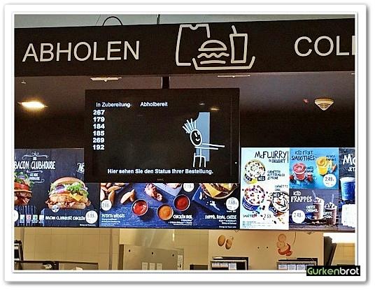 McDonalds FRA Flughafen_Bildschirm Nummern