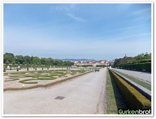 Wien_Schloss Belvedere_Ausblick