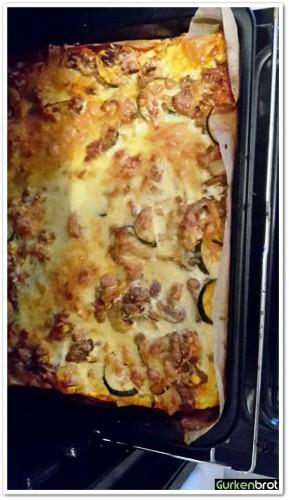 Spaghettipizza_Pizza Fertig